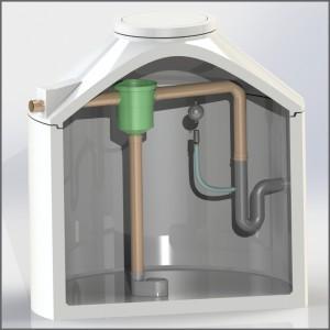 Regenwasserzisterne mit Gartenfilter und Retentionsdrossel - Regenwasser nutzen