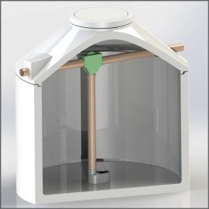 Regenwasserzisterne mit Siphonfilter in grün - Regenwasser nutzen