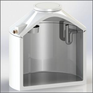 Regenwasserzisterne mit Flachtankfilter und Siphon - Regenwasser nutzen