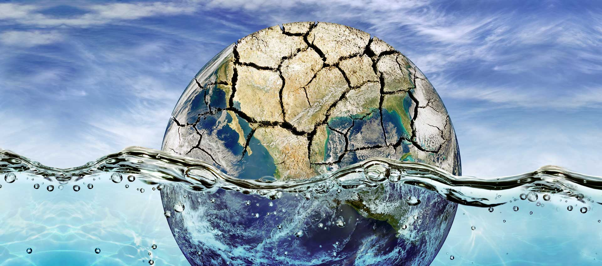 Weltkugel im Wasser